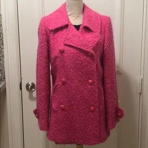 MILLY for Bergdorf Goodman pink boucle coat